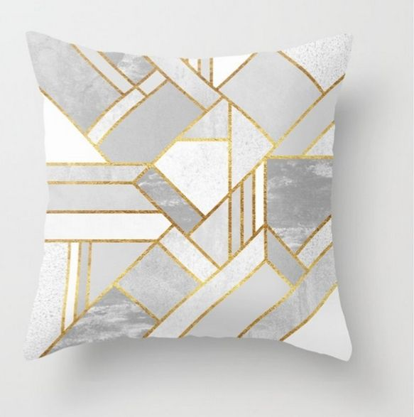 Gold throw pillows. Contrasting colors are not the best idea of all, unless you've got some really special visual effects in mind. #throwpillows