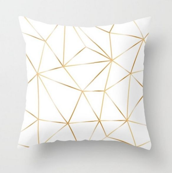 Gold throw pillows. How many seats has your sofa got? If there are two seats, the maximum number of sofa pillows should be four. #throwpillows