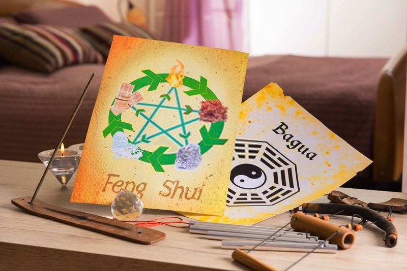 Feng shui in the home. When using Feng Shui in any area, there are spots known as Bagua where these items should be used. #fengshui